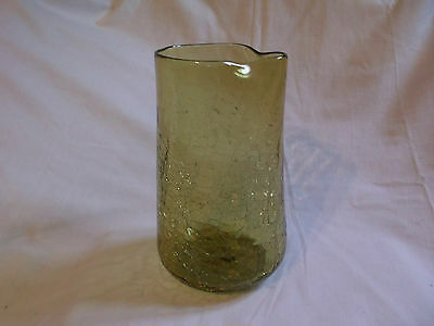 "Amber Crackle Glass 8 1/2"" Cocktail Pitcher"