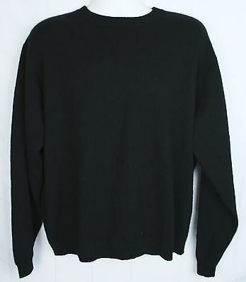 Daniel Bishop L Black 100% 2 Ply Cashmere Crew Neck Sweater Large Men's