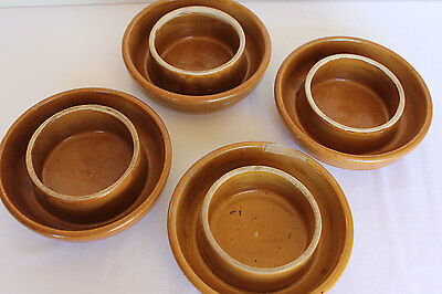 Glazed pottery ant trap furniture feet collectable