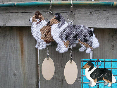 COLLIE ROUGH dog crate tag or display pet art anywhere, decor hanger ornament