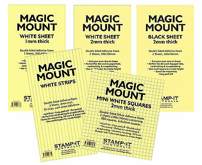 Magic Mount Double Sided Mounting Foam Sheets