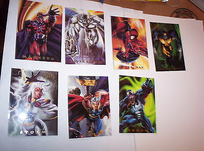 1994 MARVEL FLAIR POWERBLAST CHASE CARD SINGLES! WOLVERNE SPIDERMAN! THOR