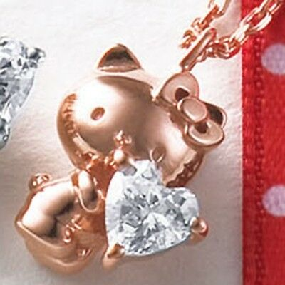 Hello Kitty 40th Silver 925 Necklace Pendant Fashion Jewelry Japan Gift T0033