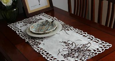 "1p Vintage polyester Table runner 14.1""x33.7""~item no 478"