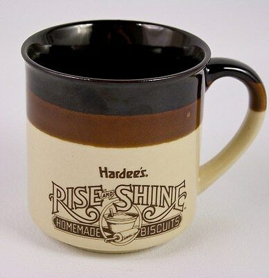 Vintage Hardee's Rise And Shine Homemade Biscuits Coffee Cup Mug