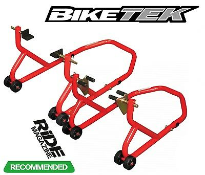 Motorcycle Front And Rear Paddock Stand Set Pair