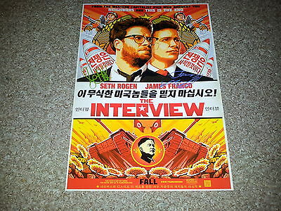 """The Interview Castx2 Pp Signed 12"""" X 8"""" A4 Photo Poster Seth Rogan James Franco"""