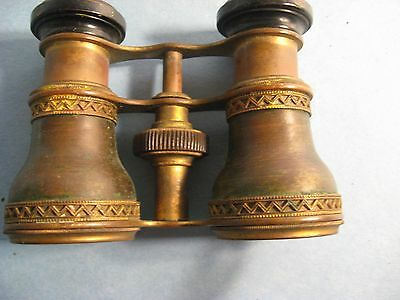 Antique Set Of Brass Opera Glasses/ Binoculars Made In Paris France