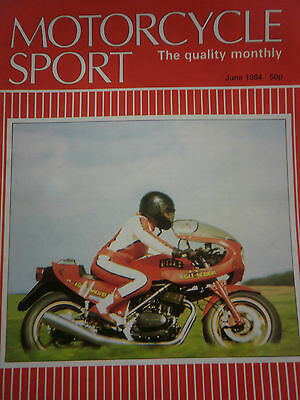 MOTORCYCLE SPORT MAGAZINE 06/84 EGLI RED FALCON COVER - HONDA VF400F 2.5 pages