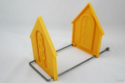 Vintage Toy Soldier Yellow Plastic Book Ends / Holder / Case / Shelf