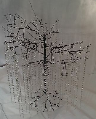 WROUGHT IRON CHANDELIER LIGHTING COUNTRY FRENCH CRYSTAL Wedding Tree candelabra