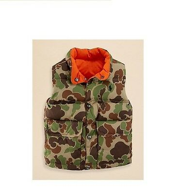 Ralph Lauren Boys' Camo Reversible Elmwood Down Vest S,M,L,XL NWT $125