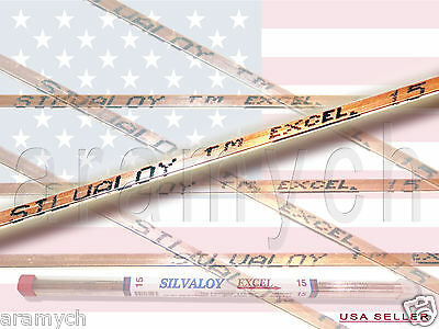 15% Silver Brazing Rods 1 ROD ONLY brazing rods SILVALOY EXCEL 15% silver ALLOY