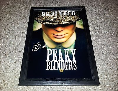 "Peaky Blinders Pp Signed & Framed 12X8"" Photo Poster Cillian Murphy"