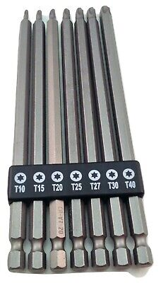 7 Piece Extra Long Torx Bit Set