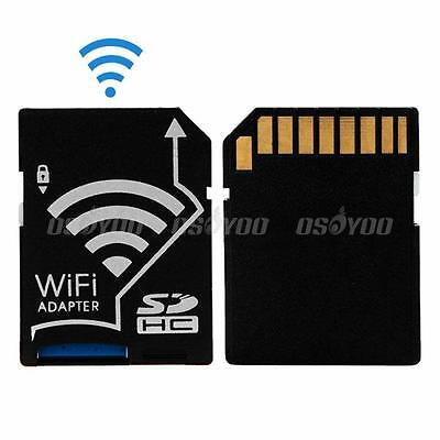 WiFi Wireless Micro SD SDHC TF Memory Card To SD Card Adapter For iOS Android