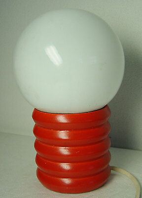 vintage 60s/ 70s red Pop Art table lamp bulb
