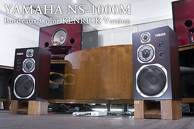 Awesome!! YAMAHA NS-1000M speakers Bordeaux Color refurbished by KENRICK SOUND