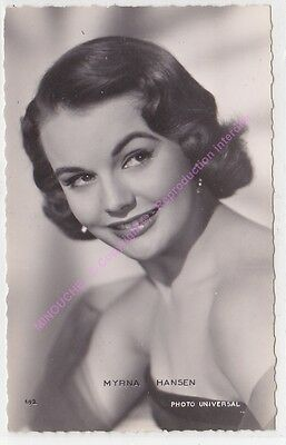 CPSM RPPC STAR MYRNA HANSEN PHOTO UNIVERSAL Edt P.I.KORES 692