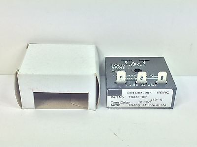 New! Ssac Solid State Timer Ts63110P 24 Vdc Time Delay 10 Seconds