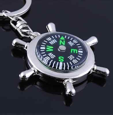 New Survival Compass Key Chain  Outdoor Hiking Key Ring