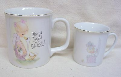 Two Precious Moments Coffee Cups Mugs - One Large 1983 & One Small 1984