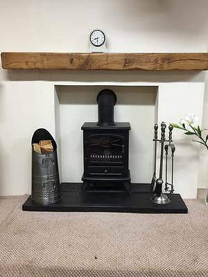 Solid Aged Air Dried Oak Floating Mantle Made With 5 X Beam