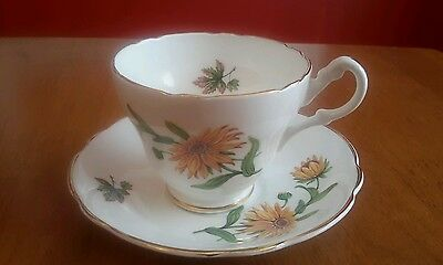 Regency  Tea Cup and Saucer  Bone China England Floral