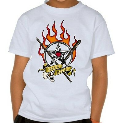 acdc t-shirt  hells bells 3 kid acdc clothing kid Tshirt for children size:1-8y