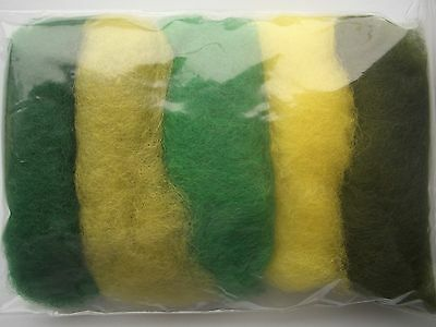 Carded wool fiber for needle felting crafts-15grams-5C#59