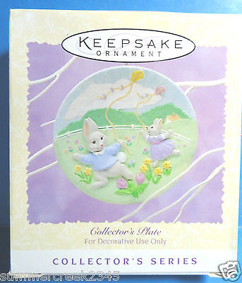 """Hallmark """"Collector's Plate"""" Easter Collection Ornament 1995"""