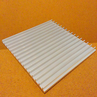6 inch Heat Sink Aluminum (6.0 x 6.08 x 0.5) inches. Low Thermal Resistance.