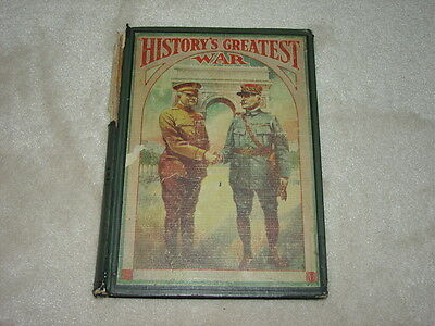 History's Greatest War USMC Army Navy WWI Copyrighted 1920