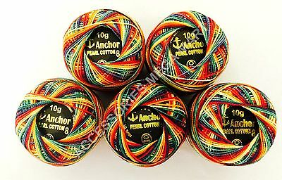 Anchor cotton crochet cross stitch embroidery thread balls - Rainbow Color