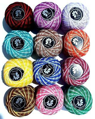 Anchor Pearl Cotton crochet embroidery Thread Balls, size 8, 85m *Best Bargain*