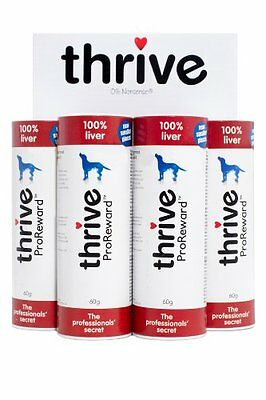 Thrive ProReward 100% Liver Treats for Dogs - 60g. Pack of 4