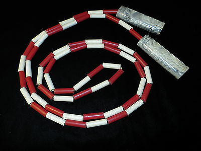 Vintage Red & White Plastic Jump Rope