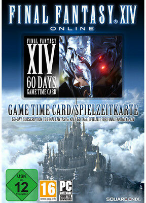FINAL FANTASY XIV 14 A Realm Reborn 60 TAGE DAYS CAMECARD Spielzeit PC Key Code