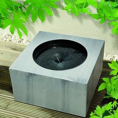 Vortex Effect Modern Garden Patio Water Feature with Built In LED Lights