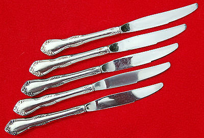 Wm A Rogers Deluxe Stainless ONEIDA Ltd ~ MANSFIELD ~ 5 PLACE KNIVES ~ VGC