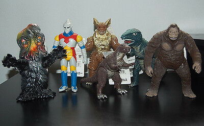 """Godzilla (1983-2004) Bandai all with tags...8"""" figures complete (80 figures)"""