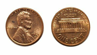 1963-D Lincoln Cent - Double Die # 1DO-022 Uncirculated bu Red #224