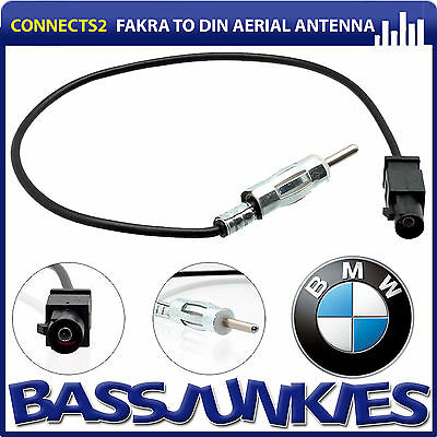 BMW 1 Series E87 Dual Twin Car Radio Double Fakra to Din Aerial Antenna Adaptor
