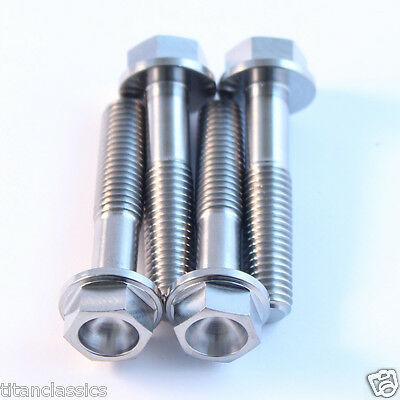 XR650 TITANIUM lower yoke bolts M8 x 40mm (1.25mm pitch) hex head bolt. 7gm