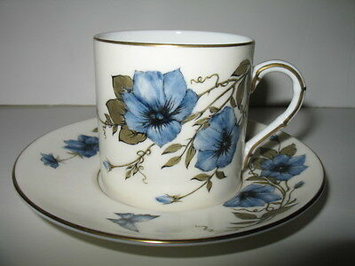 ROYAL WORCESTER Demitasse Cup & Saucer - Hand Painted & Signed P. Lewis