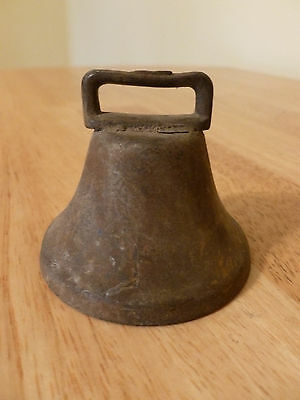 Antique Small Brass Goat Cow Bell With Original Clapper
