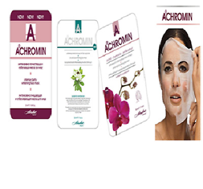 BEST FACE MASK-Bio Cellulose, Intensive cleaning,Whitening mask - by ACHROMIN