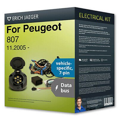 Towbar wiring kit 7-pin spec. ›for PEUGEOT 807 05- NEW Erich Jaeger incl. manual