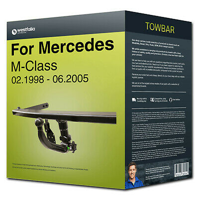 Towbar detachable ›MERCEDES M-Class 98-05 Westfalia NEW EC 94/20 FP incl. manual