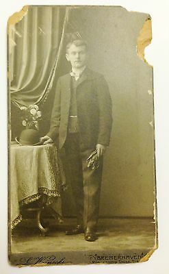 Photo People Late 1800s Early 1900s  Antique   Men Standing fair cond.
